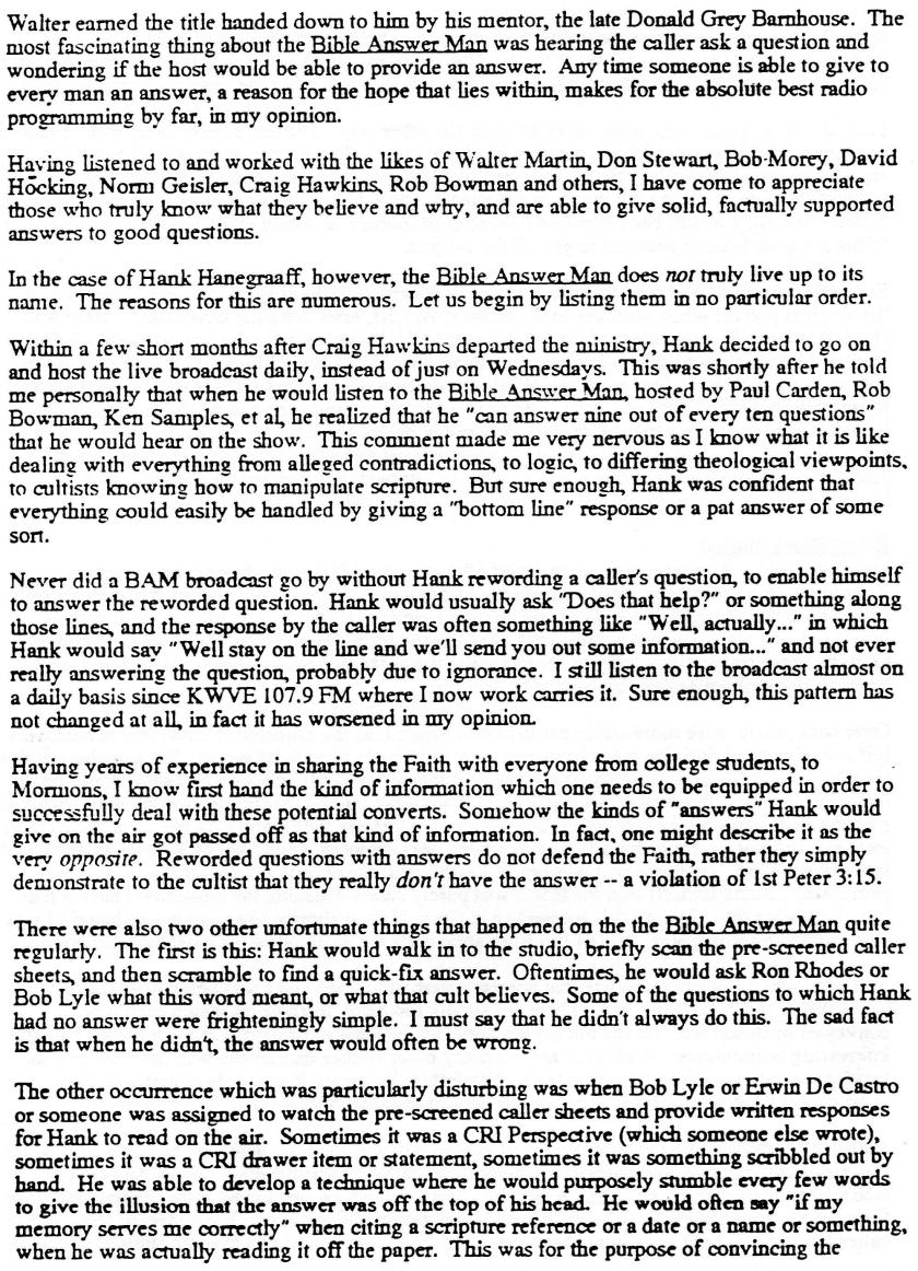 Mike Stephens Letter 2